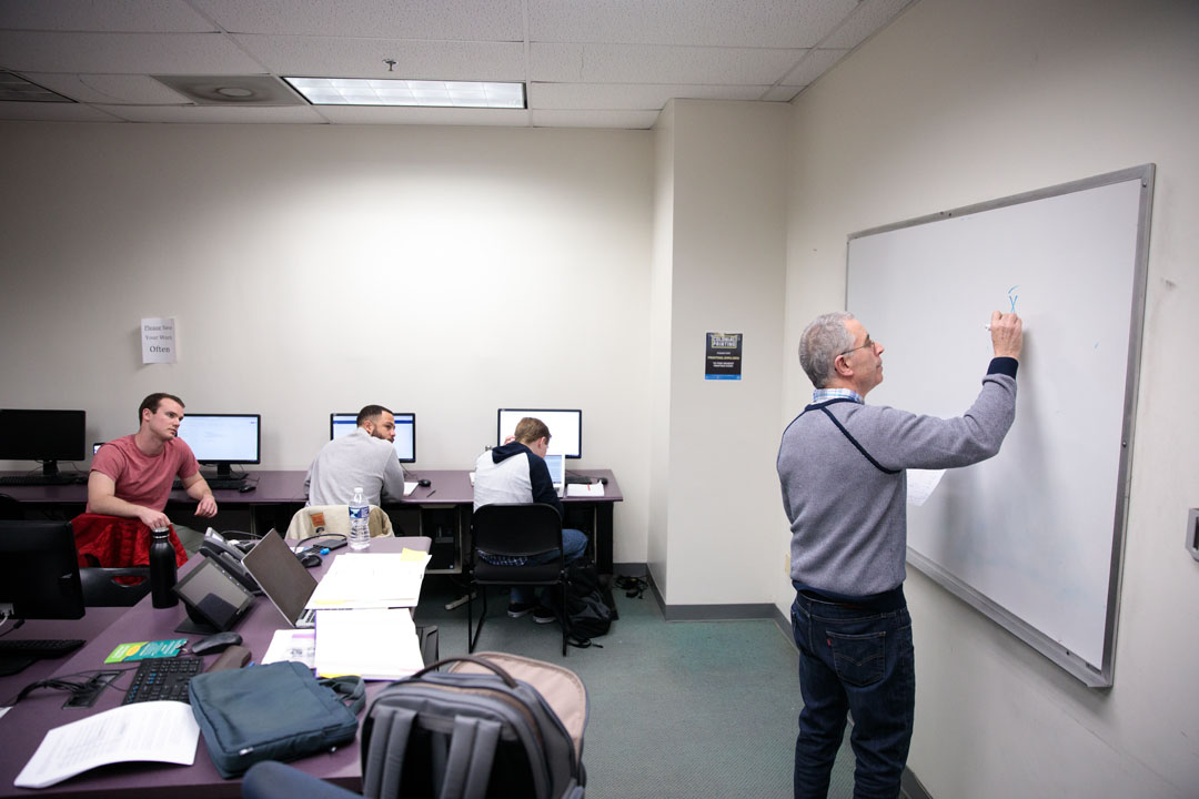 Steven Tuch teaches graduate students in SOC 6231: Data Analysis in Gelman B01