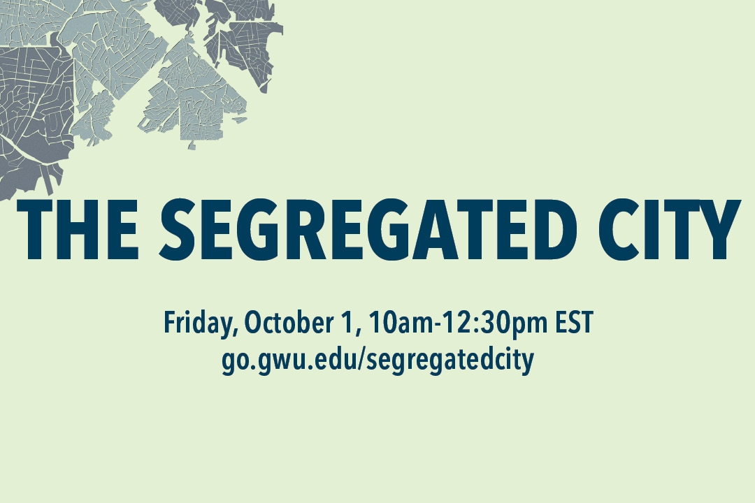 Flyer for event: The Segregated City